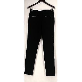 Nancy O'Dell Leggings Stretch Waist Front Zip Pocket Legging Black A420896