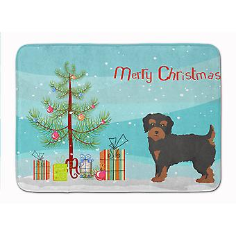Yorkiepoo #1 Christmas Tree Machine Washable Memory Foam Mat