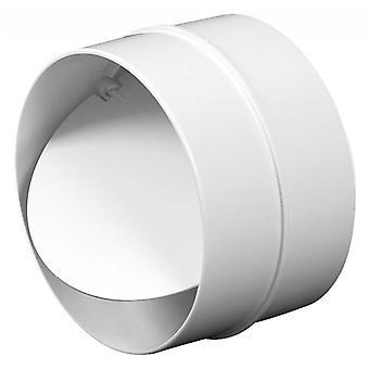100/125/150MM anti Backdraft icke-Returrör anslutning vit PVC rund galler