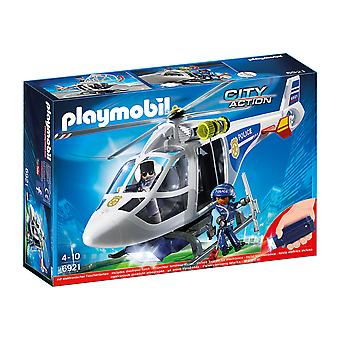Playmobil 6921 Led Searchlight Playset ile Şehir Eylem Polis Helikopteri