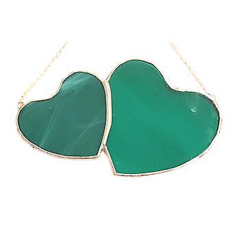 Simmerdim Design dobbelt grønne hjerte