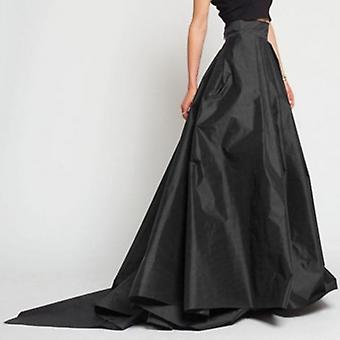High Waist Zipper Long Skirt