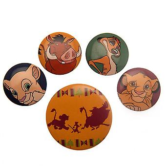 Lion King Button badge set