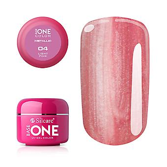 Base one-Metallic-Light pink 5g UV gel