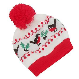 FLOSO Womens/dames kerst Robin Winter hoed, sjaal & wanten Set
