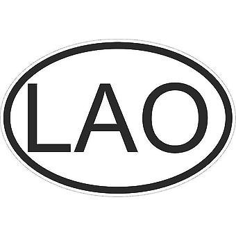 Sticker sticker sticker sticker vlag ovale code land auto moto Laotian Lao