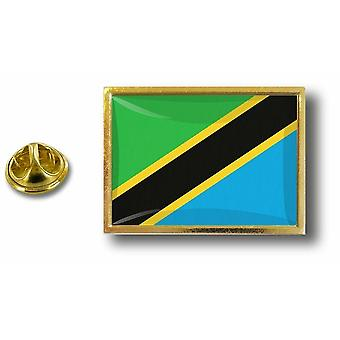 Pine PineS Badge Pin-apos;s Metal With Tanzania na' Flag Butterfly Pinch
