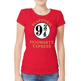 Harry Potter-platform 9 og 3 kvartaler T-shirt, kvinder