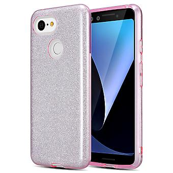 Kit Me Out TPU Gel Case Compatible with Google Pixel 3 Gloss Glitter Sparkle Bling Shimmer Cover Shockproof Durable Protective Protection