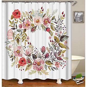 Circle Of Flowers Shower Curtain