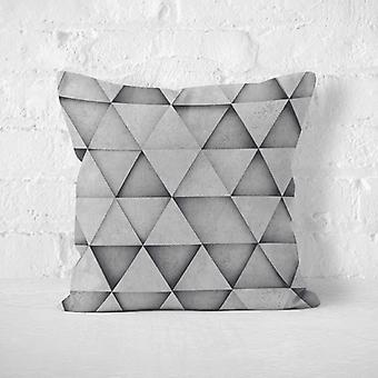 Meesoz Cushion Cover - Grey Rhombes 2D