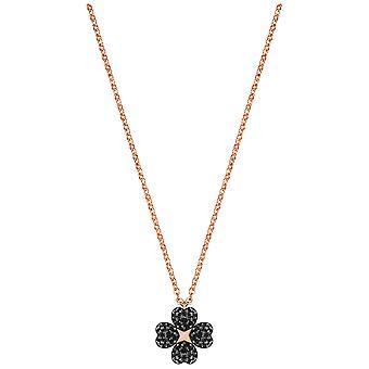 Persistencia de Swarovski flor colgante - negro - oro rosa chapado - 5420246