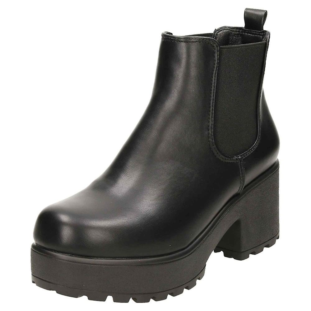 Koi Footwear Chunky Platform Gothic Ankle Chelsea Boots