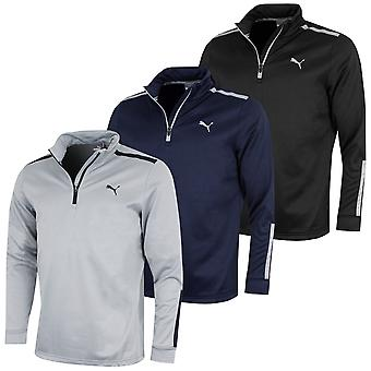 Puma Golf Mens Midweight 1/4 Zip Umidade Wicking WarmCELL Velo