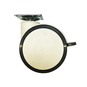 Meubelwiel wit diameter 10 cm (1 stuk)