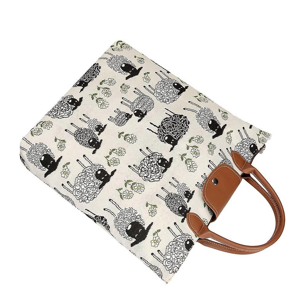 Spring lamb foldaway shopping bag by signare tapestry / fdaw-splm