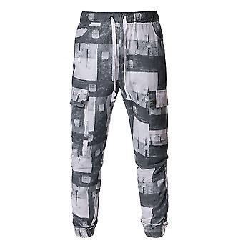 Allthemen Men-apos;s Casual Cool Sport Daily Drawstring Printing Capri-pantalons
