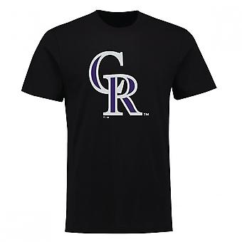 Fantasierna MLB Colorado Rockies primär logo typ T-shirt