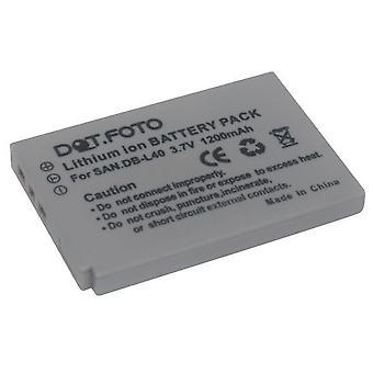 Dot.Foto Sanyo DB-L40, de batterij van de vervanging van de DB-L40AU - 3.7V / 1200mAh