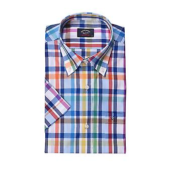 Paul & Shark Paul And Shark Short Sleeve Shirt Blue Green Red Multi Check