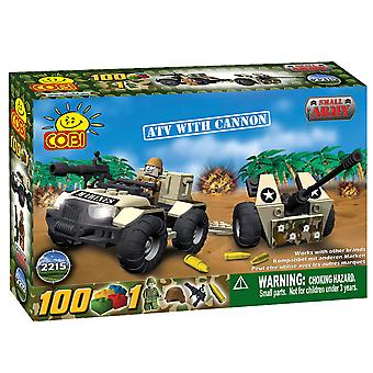 Small Army 100pc ATV w/ Cannon Military Veh Construction Set