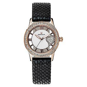 ORPHELIA naisten analoginen kello ruskea nahka OR11705