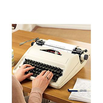 Chums Portable Typewriter With Case And 2 Extra Replacement Ribbons