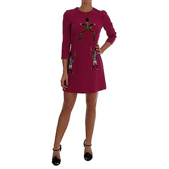 Rochie Dolce & Gabbana Pink Wool Stretch Pupi Di Teatro