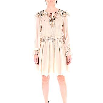 Alberta Ferretti 04031615v0045 Women's Beige Silk Dress