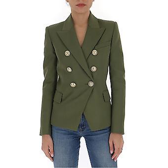 Balmain Tf17110167l7ua Women's Green Cotton Blazer