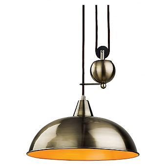 Firstlight Plummet moderne antike Messing Dome Schatten Decke Anhänger Licht Fitting