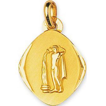 M�daille Signe Astrologique verseau Or 375/1000 jaune  (9K)