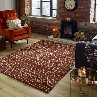 Odine Rugs In Red