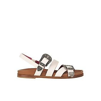 181 Ezgl315012 Women's White Leather Sandals
