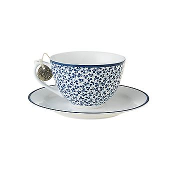 Laura Ashley Cappuccino Cup and Saucer, Floris