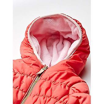 Osh Kosh Baby Girls Heavyweight Winter Coat with Cinched Waist, Poppy Red, 12Mo