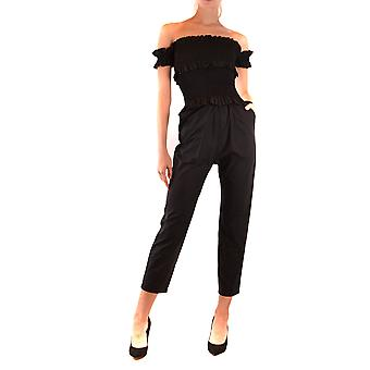 Pinko Ezbc056277 Damen's schwarze Baumwolle Jumpsuit