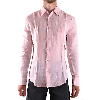 Iceberg Ezbc408001 Men's Pink Linen Shirt