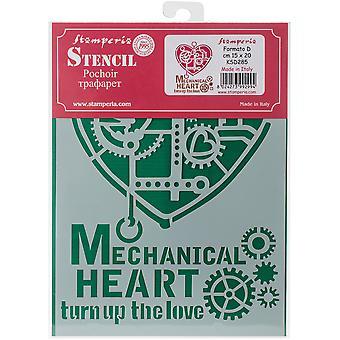 Stamperia Stensiili A5 Mekaaninen sydän