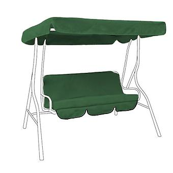 Water Resistant 3 Seater Replacement Canopy & Seat Pad ONLY for Swing Seat/Garden Hammock in Green