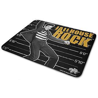 Elvis Presley Mouse Mat Pad Jailhouse Rock Logo new Official Black