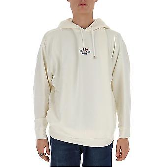 Buscemi Bmw19240992 Men's White Cotton Sweatshirt