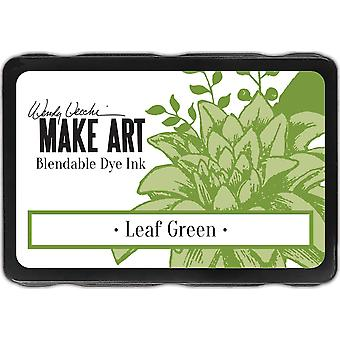 ונדי ווצ הפוך רפידות דיו לצבעי דפוס-עלה ירוק