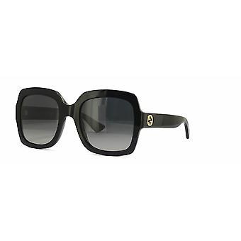 Gucci GG0036S 011 Zwart/Gepolariseerdgrijs verloop zonnebrillen