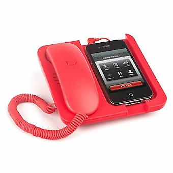 Red mobile phone holder and speaker Pronto!