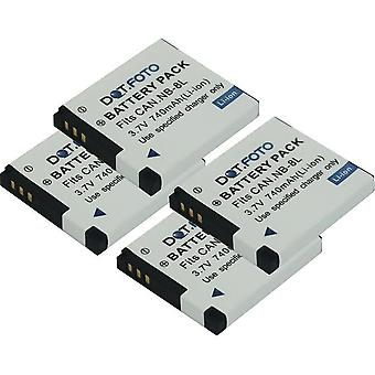 4 x Dot.Foto NB-8L PREMIUM 3.7v / 740mAh Replacement Rechargeable Camera Battery for Canon [See Description for Compatibility]