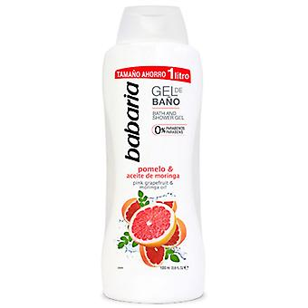 Babaria Grapefrukt & Moringa Olje Bad Gel 1000 ml
