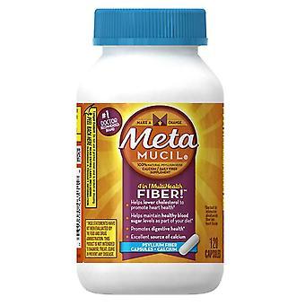 Metamucil سيلليوم الألياف كبسولات + الكالسيوم، عصام 120