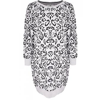 A Postcard from Brighton Sage Coconut White Leopard Print Tunic