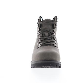 Lugz Grotto II  Mens Gray Leather Casual Dress Lace Up Boots Shoes